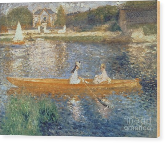 Boating On The Seine Wood Print