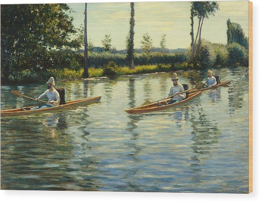 Boating On The Yerres Perissoires Sur Lyerres 1877 Wood Print