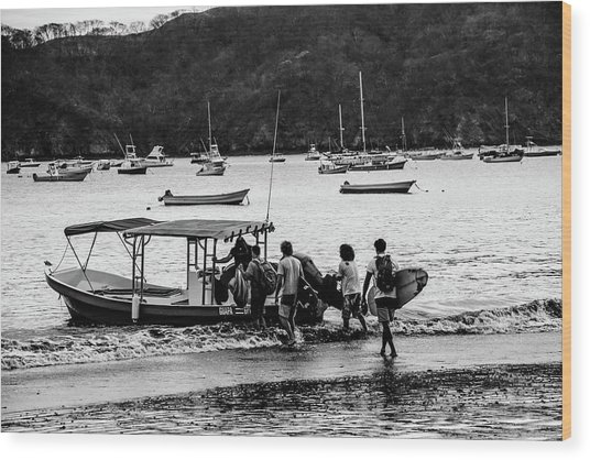 Boats And Boards  Wood Print
