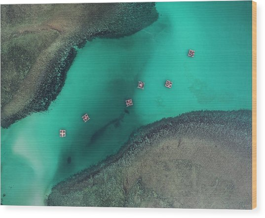 Wood Print featuring the photograph Boats Floating In Sea by Pradeep Raja PRINTS