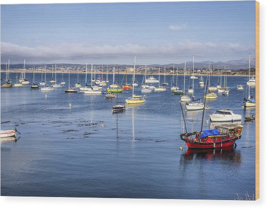 Colorful Monterey Bay Wood Print