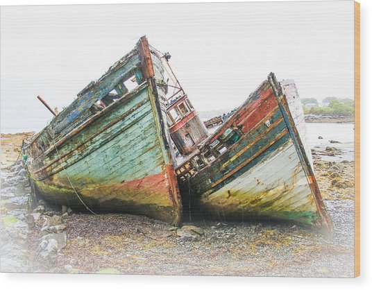 Boats Isle Of Mull 4 Wood Print