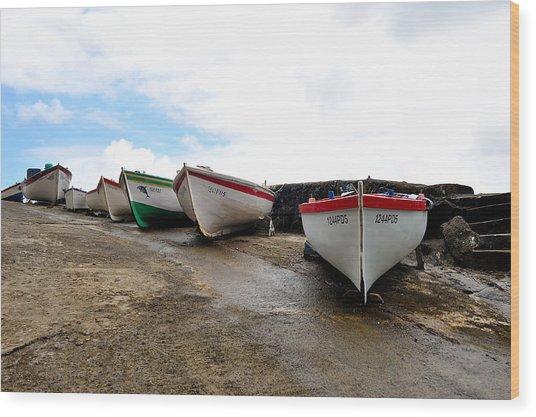 Boats,fishing-24 Wood Print