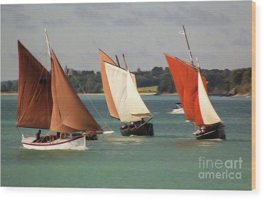 Boatshow 3 Wood Print