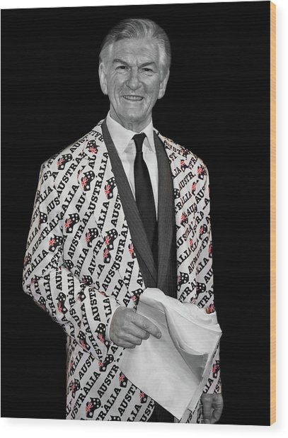Bob Hawke Wood Print