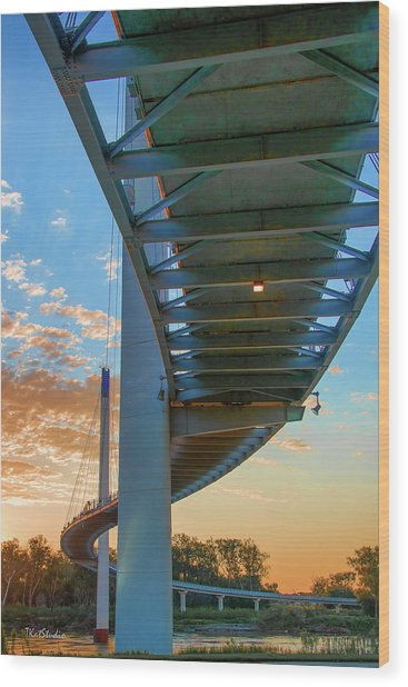 Bob Kerry Bridge At Sunrise-2 Wood Print