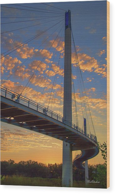 Bob Kerry Bridge At Sunrise Wood Print