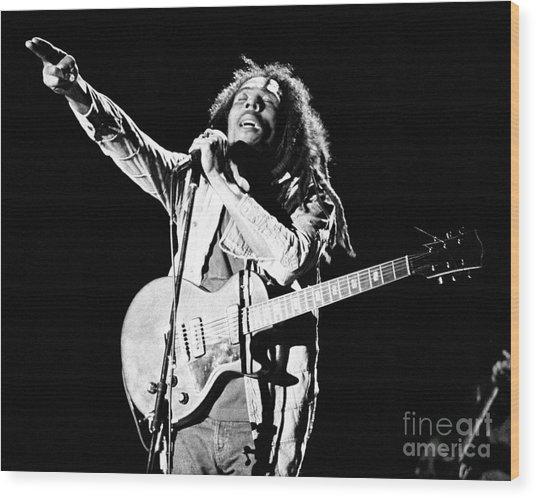 Bob Marley 1978 Wood Print