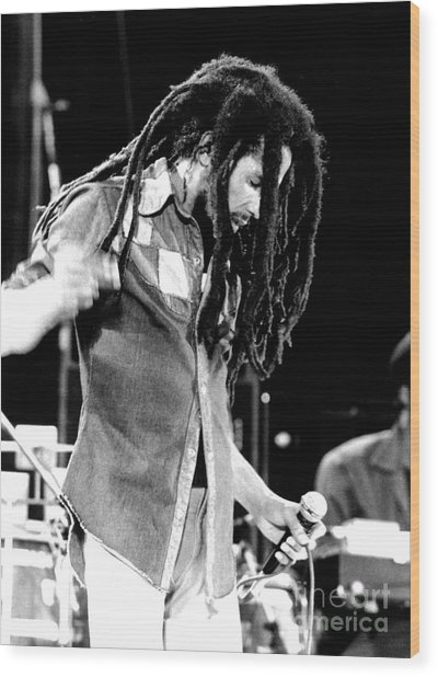 Bob Marley 1979  Wood Print