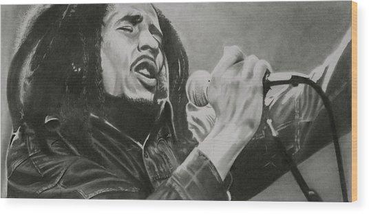 Bob Marley Wood Print by Don Medina