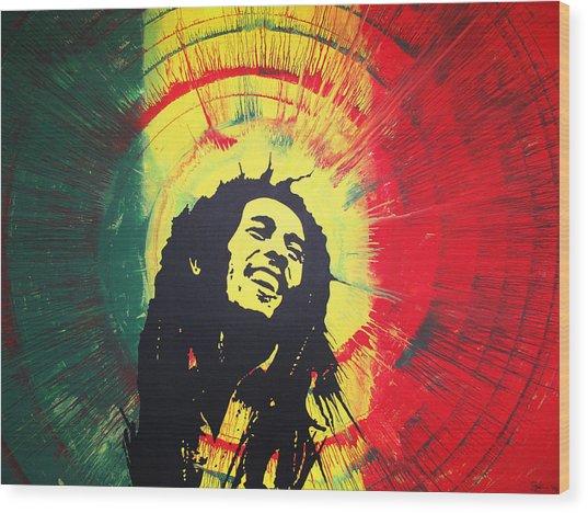 Bob Marley Wood Print by Lance Bifoss
