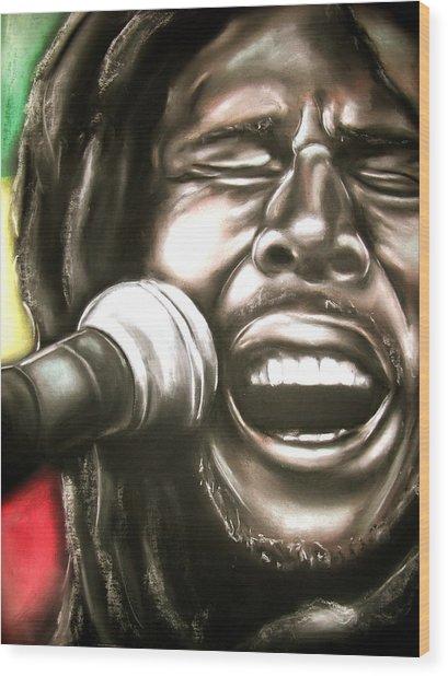 Bob Marley Wood Print by Zach Zwagil