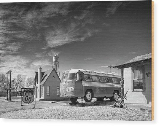 Bob Wills And The Texas Playboys Tour Bus Turkey Tx Wood Print