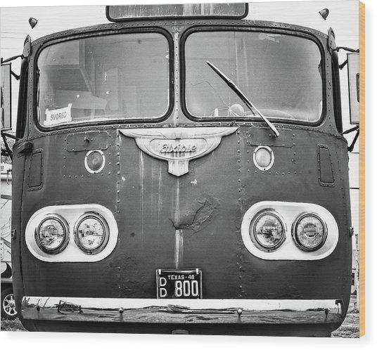 Bob Wills Tour Bus Bw Wood Print