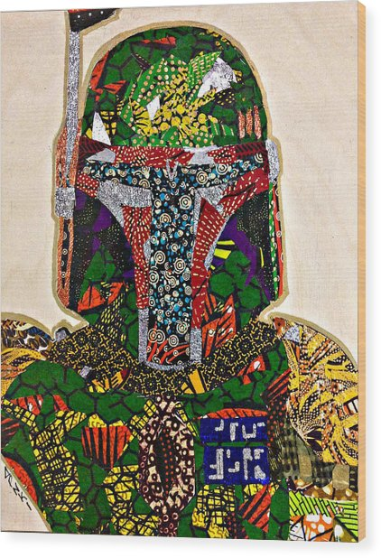 Boba Fett Star Wars Afrofuturist Collection Wood Print