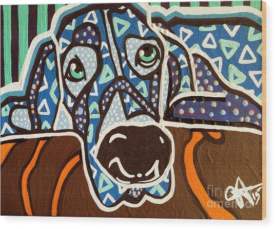 Bobby Blue Eyes Wood Print