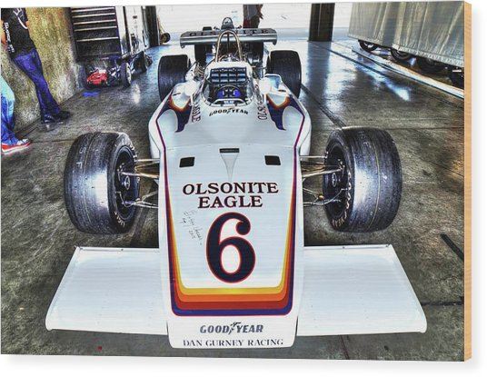Bobby Unser's 1972 Indianapolis 500 Car. Wood Print