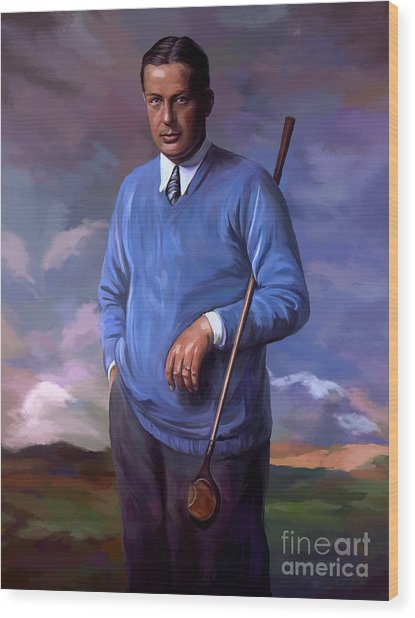 Bobbyjones-openchampion1926 Reproduction Wood Print