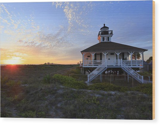 Boca Grande Lighthouse, Gasparilla Island, Florida, U S A Wood Print