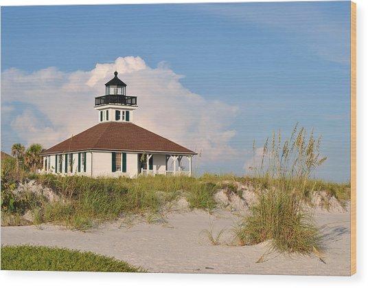 Boca Grande Lighthouse Wood Print by Steven Scott