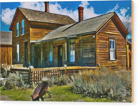 Bodie House Stylized Wood Print