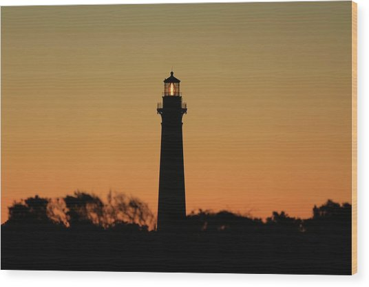 Bodie Light At Sunset Wood Print