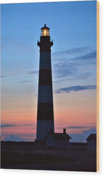 Bodie Lighthouse 7/18/16 Wood Print