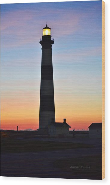 Bodie Lighthouse At Sunrise Wood Print