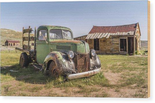 Bodie Pickup Truck Wood Print