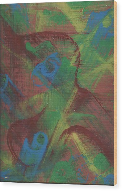 Body Fusion Wood Print by Cathy Minerva