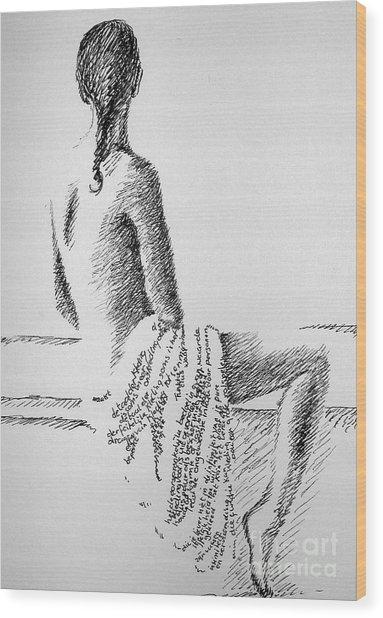 Body Language Wood Print by Tanni Koens