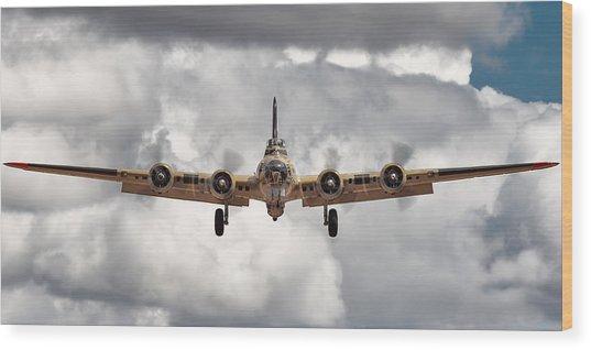 Boeing Inbound Wood Print