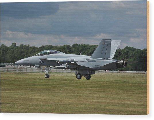 Boeing Super Hornet  Wood Print