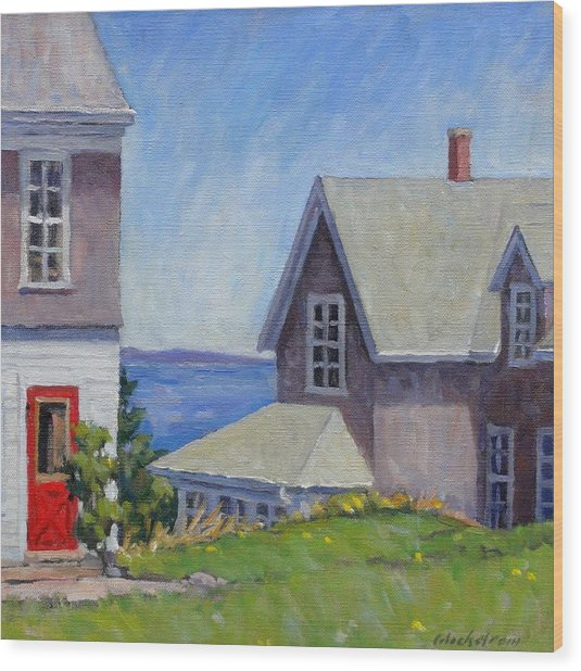 Bogdanov House Monhegan Wood Print