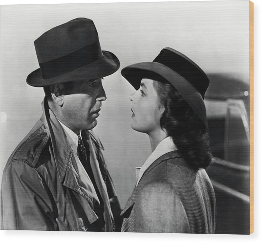 Bogey And Bergman Casablanca  1942 Wood Print