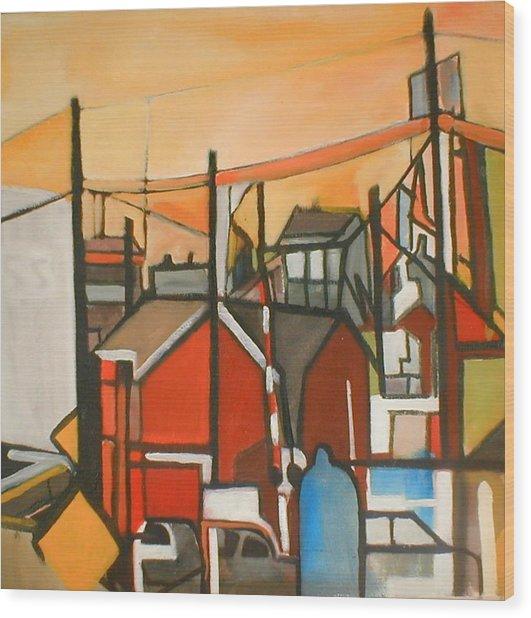 Bogota Industrial Wood Print
