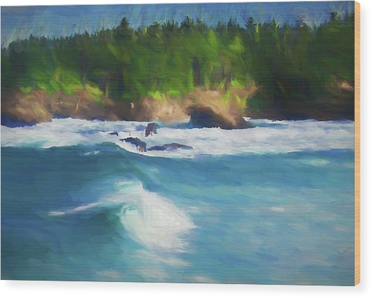 Boiler Bay Blues Wood Print