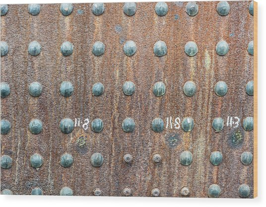 Boiler Rivets Wood Print