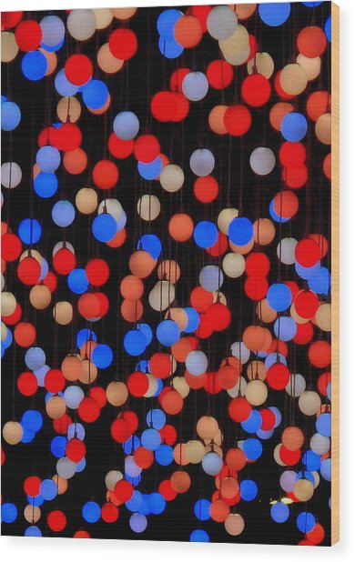 Bokeh Lights Wood Print