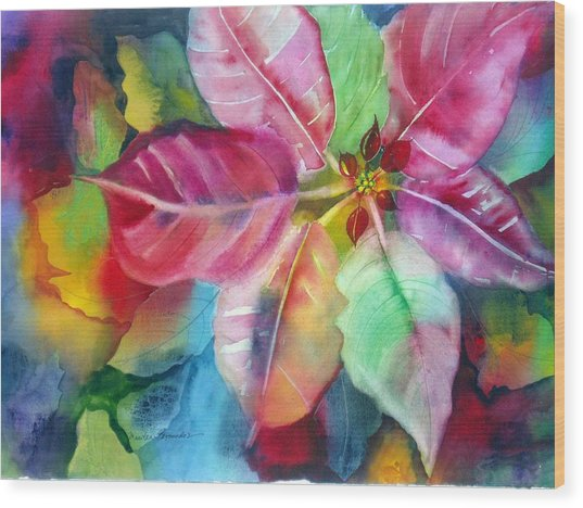 Bold Bloom Wood Print by Maritza Bermudez