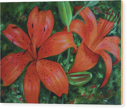 Bold Blooms Wood Print
