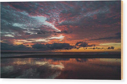 Bold Sunrise Delray Beach Florida Wood Print