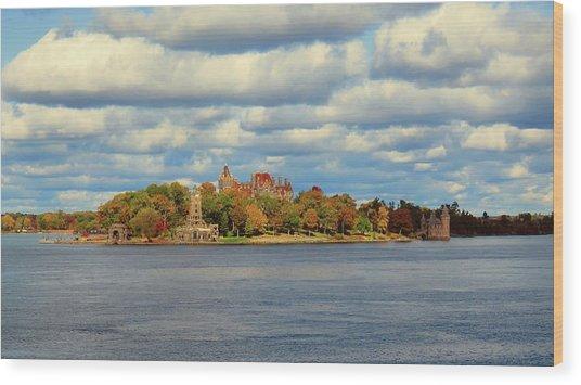 Boldt Castle Wood Print