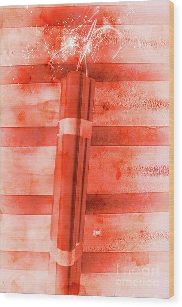 Bomb Of The Betrayal Wood Print