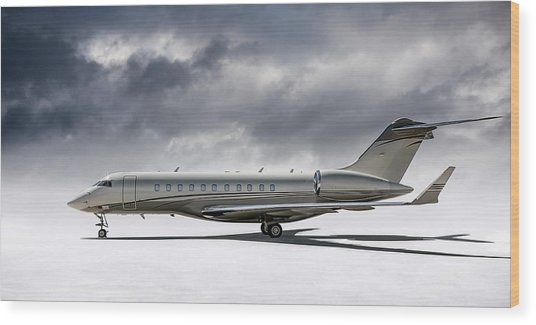 Bombardier Global 5000 Wood Print