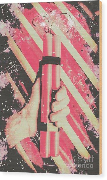 Bomber Man Hand Wood Print