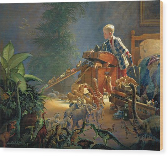 Wood Print featuring the painting Bon Voyage by Greg Olsen