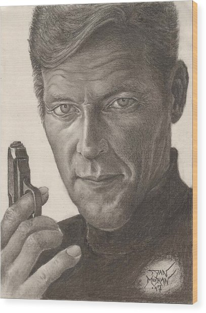 Bond Portrait Wood Print