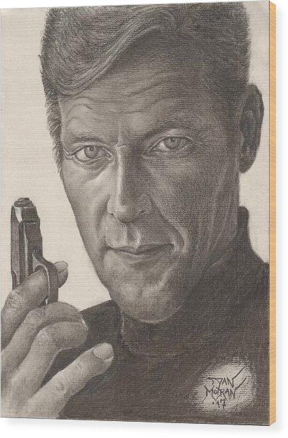 Bond Portrait Wood Print