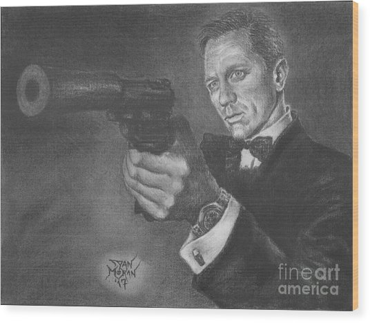 Bond Portrait Number 3 Wood Print
